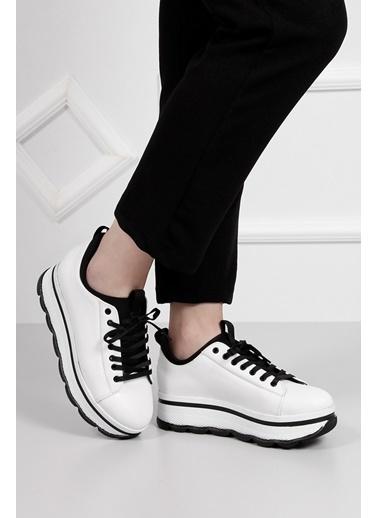 Dolgu Tabanlı Bağcıklı Ayakkabı-G.Ö.N.
